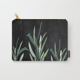 Eucalyptus Branches On Chalkboard Carry-All Pouch