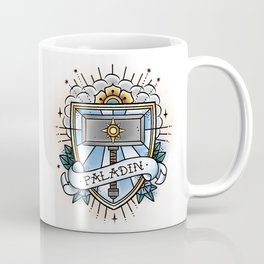 Paladin - Vintage D&D Tattoo Coffee Mug
