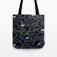 night waterlily Tote Bag