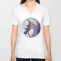 horse V-neck T-shirts featuring Horse by Slaveika Aladjova