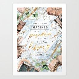 Paradise library Art Print