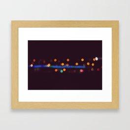 Lights in Warsaw Framed Art Print