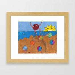 Lets get the kickball! Framed Art Print