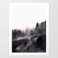Watercolor abstract landscape 17 Art Print