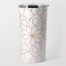 Mandala Rose Gold Pink Star Travel Mug