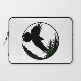 Raven & Forest circular silhouette Laptop Sleeve