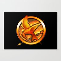 mockingjay Canvas Prints featuring Mockingjay by Joshua Epling