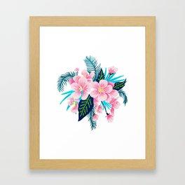 Floral Gift Framed Art Print