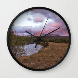 Early Morning at Many Glacier Wall Clock
