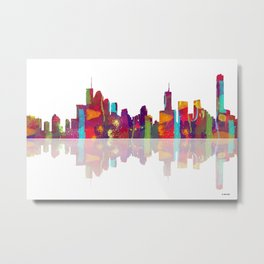 Brisbane Skyline 1 Metal Print