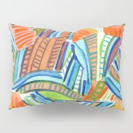 Bent and Straight Ladders Pattern Pillow Sham