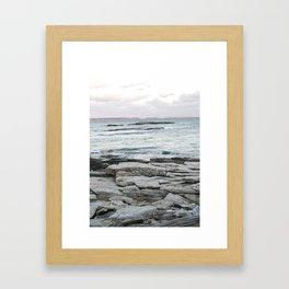 Frozen Maine Ocean Framed Art Print