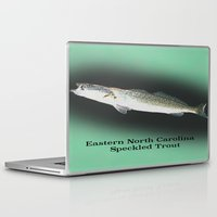 trout Laptop & iPad Skins featuring Dad's Speckled trout by Kyle Ellsworth