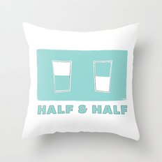 half & half Throw Pillow