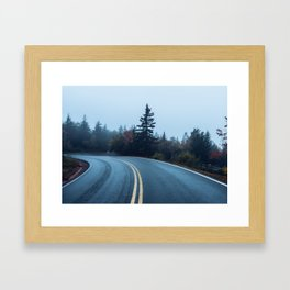 Cadillac Mountain Summit Road Framed Art Print