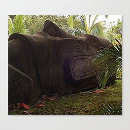 Easter Island Tiki Canvas Print