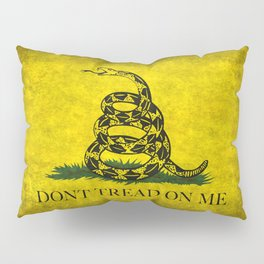 Gadsden Flag, Don't Tread On Me in Vintage Grunge Pillow Sham