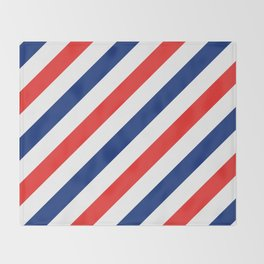 Barber Stripes Throw Blanket