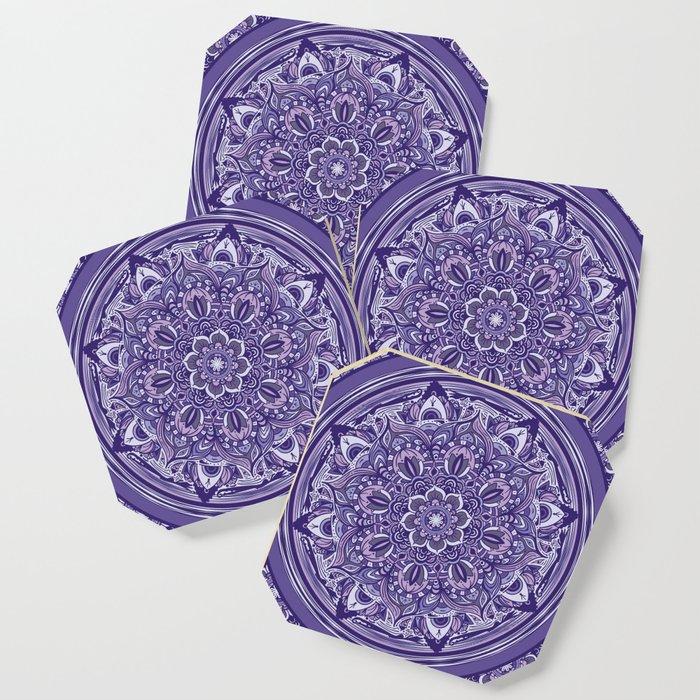 Great Purple Mandala Coaster