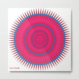 Mandala in balls and tips Metal Print