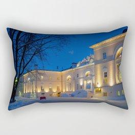 Russia Bauman Moscow State Technical University Winter Snow Evening Cities Building Houses Rectangular Pillow