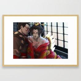 Warrior and Phoenix Framed Art Print