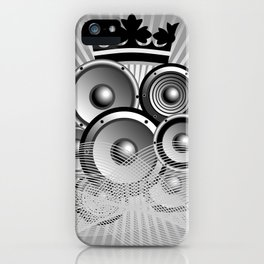 Abstract music illustration with wings iPhone Case