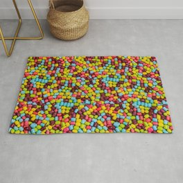 Cotton Candy Marshmallow Candies Pattern Rug