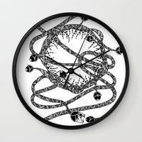 monsters Wall Clocks featuring MoNsTeRs by meridianna reborned