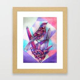 Amethyst Songbird Framed Art Print