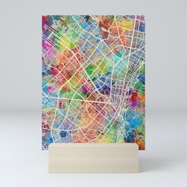 Bogota Colombia City Map Mini Art Print