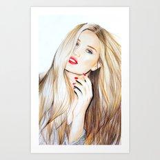 rosie huntington whiteley  Art Print