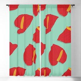 Anthurium Pattern Blackout Curtain