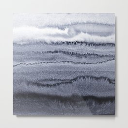 WITHIN THE TIDES - VELVET GREY Metal Print