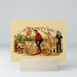 Vintage Cigar Box Art - The Safety Brand Mini Art Print