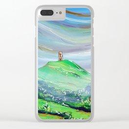Glastonbury Tor Clear iPhone Case