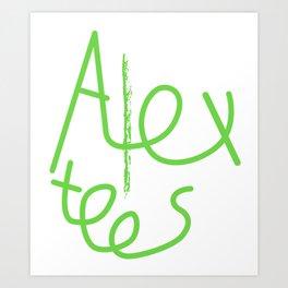 Alex cool tees Art Print