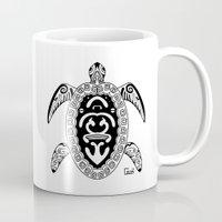 tortoise Mugs featuring Tortoise by ceceï