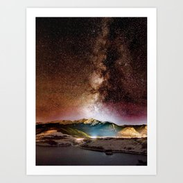 Milky Way Grainy Detail // Amazing Shot of the Galaxy in Colorado Long Exposure Star Gazing Photo Art Print