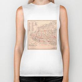 Vintage Map of Charleston South Carolina (1890) Biker Tank