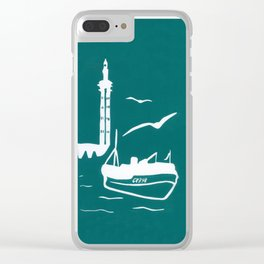 Home in Turquoise Clear iPhone Case