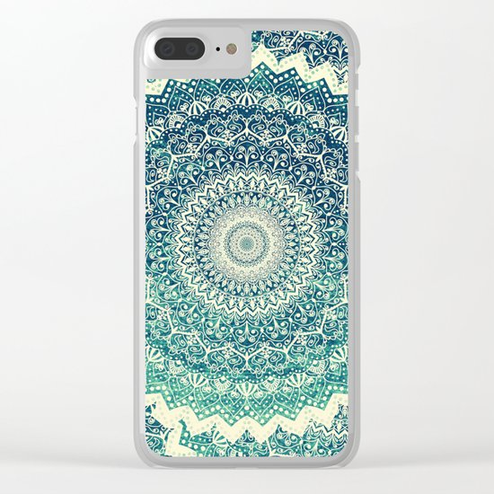 BICOLOR COLD WINTER MANDALA Clear iPhone Case