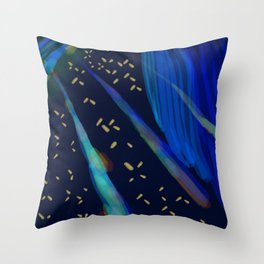 Beeple Bops and Blue Throw Pillow