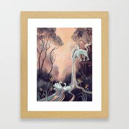 Barfing Unicorn Framed Art Print