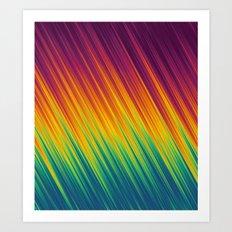 Colorful Rays 4 Art Print