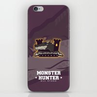 monster hunter iPhone & iPod Skins featuring Monster Hunter All Stars - Schrade Legends by Bleached ink
