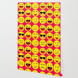 emoticons pattern Wallpaper