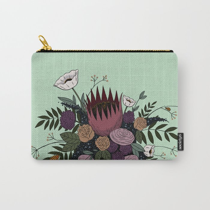 Beetles and Flowers Carry-All Pouch
