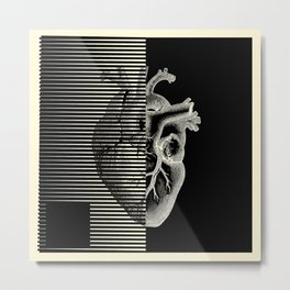 MOODULAB 002: Pulse / Heartbeat Metal Print
