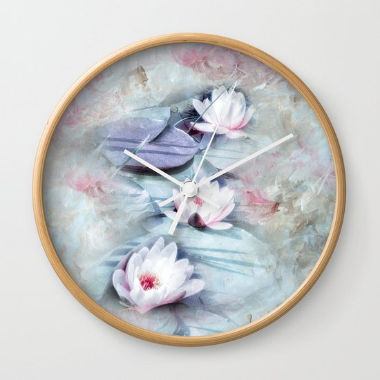 SUMMER LILY POND Wall Clock